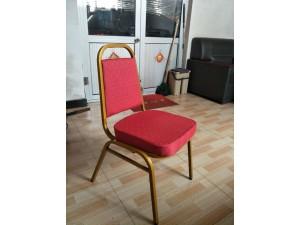 金属椅子包间椅软包椅中式印花酒店