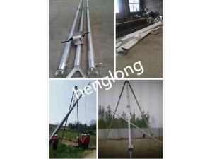 手摇立杆机8~15米 铝合金三角架立杆机人字抱杆电线杆起杆机