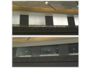 咖啡厅休息室渐变玻璃隔断OY-3