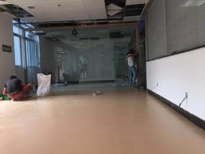办公室地板·耐磨防水锁扣PVC板安装