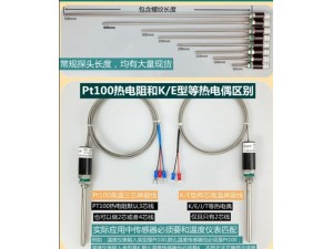烟台wzp  PT100温度传感器探头_高精度温度传感器选型