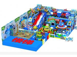 商场室内儿童乐园淘气堡蹦床海洋球投影互动砸球室外滑梯组合