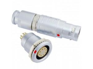 长方捷连接器 8芯塑料金属圆型推拉自锁插头插座