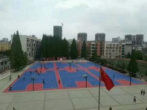 篮球场 硅pu篮球场学校硅
