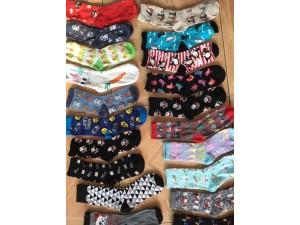 外贸袜子批发厂家 地摊外贸袜子 库存便宜袜子 原单品牌袜子