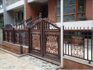 河东区安装铁艺大门铁艺围栏订做天津铁艺围栏厂家