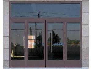 南开区制作安装肯德基玻璃门钢化玻璃门地弹簧玻璃门