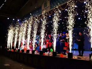 北京舞台庆典电子喜焰喷花机租赁