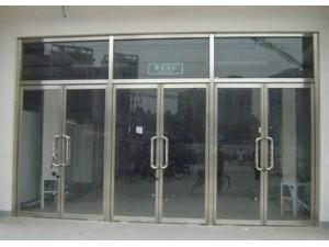 和平区安装定做商场店铺玻璃门更换玻璃门地弹簧厂家