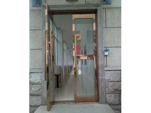 静海县玻璃门钢化玻璃门定做厂家玻璃隔断安装肯德基门
