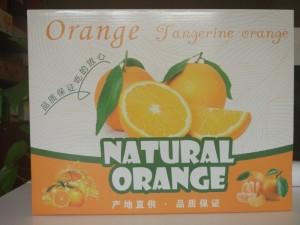 橙子纸箱包装