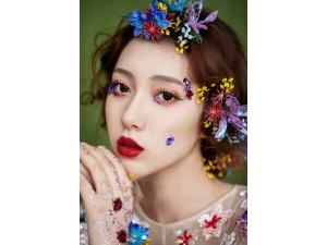 龙摄影化妆培训学校森系新娘造型作品分享