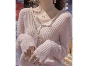 秋季新款基础外搭舒适马海毛开衫外套女