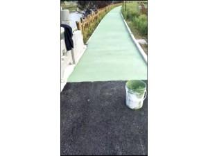 水性聚合物彩浆施工沥青路面改色刮涂薄层