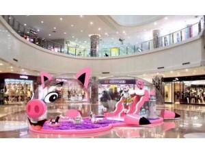 粉萌小猪出租大型粉色小猪海洋球气模自家设备 价格优惠
