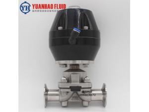 源浩生产不锈钢快装隔膜阀 食品级气动隔膜阀