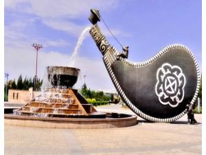 重庆 民族特色玻璃钢酒壶雕塑 花坛水池装饰摆件定制
