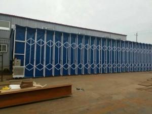 伸缩式喷漆房废气处理设备使用的一种大型环保设备