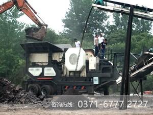 低粉尘,零污染,移动式破石机重建绿水青山