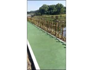 聚合物水性彩色路面水性聚合物彩浆防滑路面