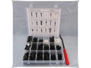 厂家直销150PCS汽车尼龙挡泥板门板固定组合套装盒装卡扣