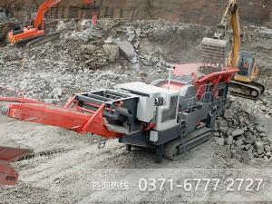 一改传统,红星履带式流动碎石机开辟破碎新疆土