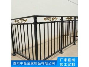 河道庭院栅栏无焊接穿插组合连接设计喷涂锌钢护栏加工
