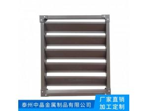 白色1.2叶片厚度百叶窗防护窗找中晶锌钢护栏