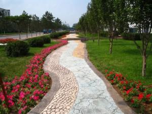 扬州销售压花混凝土地坪材料