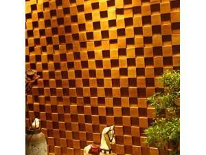 实木马赛克私人订制形象墙