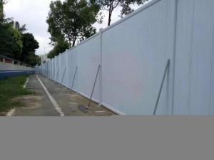 广东施工pvc围挡 建筑施工隔离板 深圳新型围挡 钢结构围挡