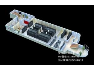 咸阳机房装修效果图制作|建筑外立面|大棚鸟瞰效果图表现
