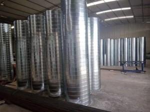 重庆镀锡螺旋风管加工厂专业通风管道风管加工厂