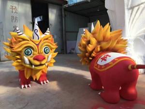 镇江商场美陈摆件 动物玻璃钢雕塑 塑景工厂制作