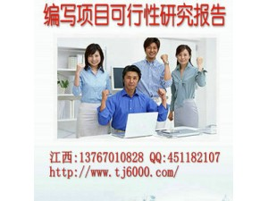 南昌市专业代写项目可行性研究报告