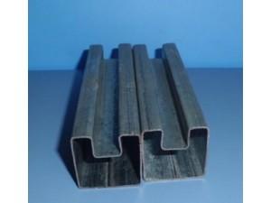 40*80偏凹槽管批量价格、正凹槽管厂家新模具