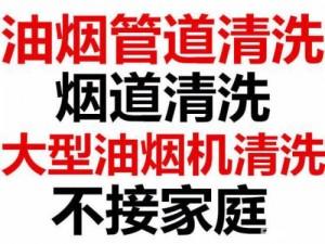 上海杨浦区饭店宾馆油烟管道清洗 油烟净化器清洗