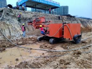 供应履带式液压锚固钻机 基坑支护能升高锚固钻机