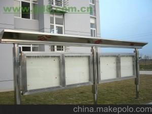 中关村安装焊接不锈钢宣传栏警示牌不锈钢货架加工维修