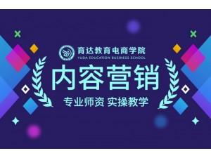 杭州新媒体营销培训内容营销学习淘宝培训推荐就业育达