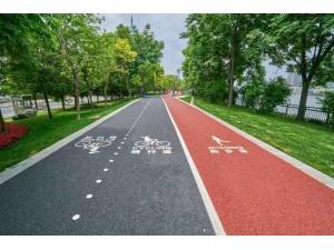 青白江区 透水彩色路面 生态透水地坪 彩色透水绿道