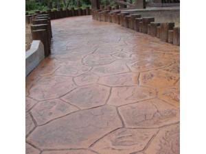 金堂县 压膜透水彩色混凝土 压花地坪 水泥压印地面 可定制