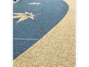 南充市 露骨地坪 彩色透水混凝土颜料 生态透水路面