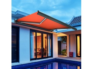 厂家生产 户外遮阳棚遮雨棚 曲臂伸缩式遮阳棚 推拉遮阳棚