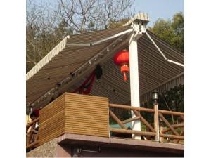 双柱TA型双开加厚型曲臂遮阳棚 双开蝴蝶遮阳棚人字型帐篷雨棚