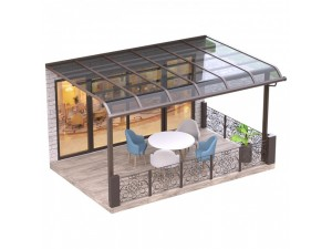 厂家制造 阳台庭院别墅铝合金阳光棚 户外耐力板雨蓬