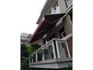 厂家定制门面伸缩篷 户外折叠遮阳篷 阳台商铺曲臂手摇雨棚