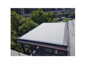 阳光房电动天幕棚 户外自动遮阳蓬 大轨道式天幕遮阳棚