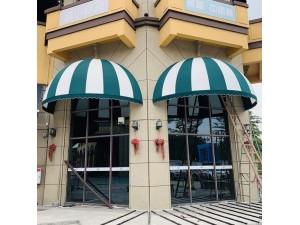 门窗固定遮阳棚 室内法式棚 店面装饰篷咖啡馆 奥斯布梯形棚